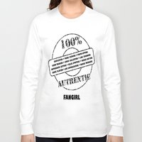 fangirl Long Sleeve T-shirts featuring Authentic Fangirl by Off The Path Creative