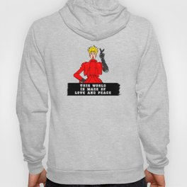 This World is Made of Love and Peace with NO Background Hoody