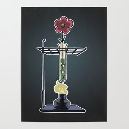 Bunsen Burner FlowerPot Poster