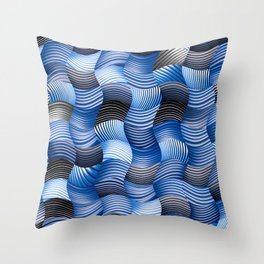Les stores bleus Throw Pillow