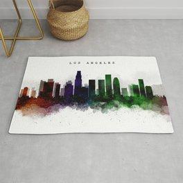 Los Angeles Watercolor Skyline Rug