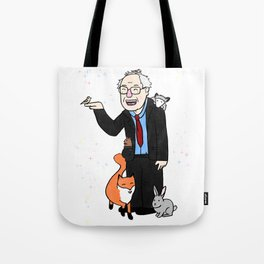 Magical Woodland Bernie Sanders Tote Bag