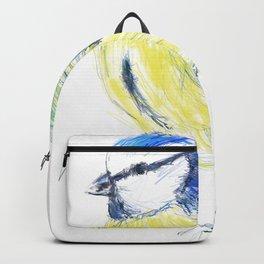Beautiful Blue Tit Garden Bird Backpack
