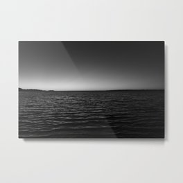 Black and White Sunset Metal Print