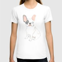 french bulldog T-shirts featuring French Bulldog by jo clark