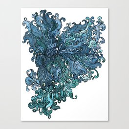 Betta Splendens - Blue Canvas Print