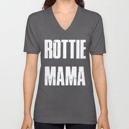 Distressed Dog Meme Gifts Rottie Mama Dog Mom Unisex V-Neck