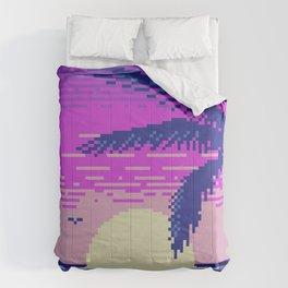 Pixel Sunset Comforters