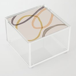 Ring Abstract On Beige One Acrylic Box