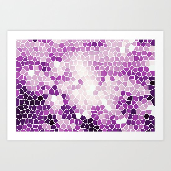 Pattern 8 - Grape kisses Art Print