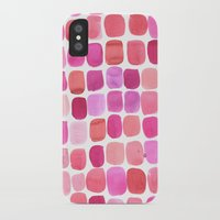 lipstick iPhone & iPod Cases featuring Lipstick by Amy Sia