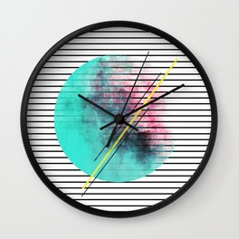 Minimal Stripes Cotton Candy Paint Wall Clock