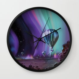 NASA Retro Space Travel Poster #7 Juniper Wall Clock