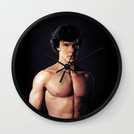 Shirtless Sherlock Wall Clock