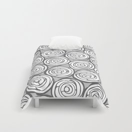 Roses in grey Comforters