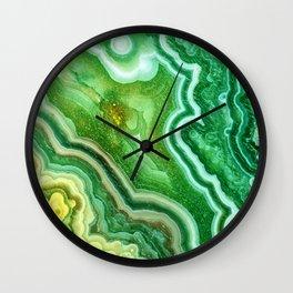 Green marble Wall Clock