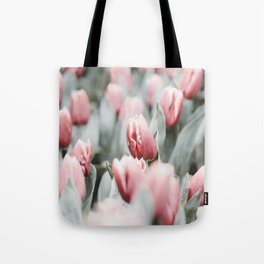 Frosted Tulips Tote Bag