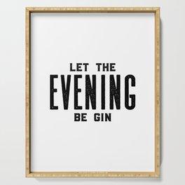 GIN AND TONIC, Let The Evening Be Gin, Bar Decor,Bar Cart,Bar Wall Art,Home Bar Decor,Party Decor,Al Serving Tray