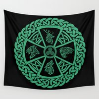 celtic Wall Tapestries featuring Celtic Nature by Astrablink7