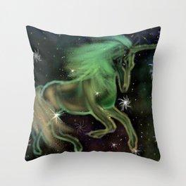 Cosmic Unicorn Throw Pillow