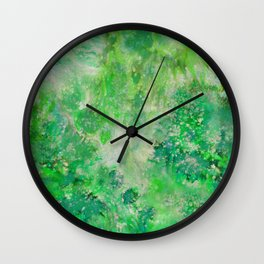 Peacefull Green Wall Clock