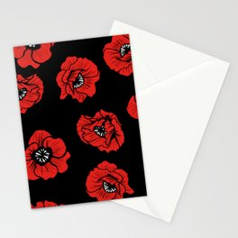 Hungry Poppies Dark Stationery Cards