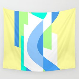 SUISSE - Art Deco Modern: FRESH WATER & SUNSHINE Wall Tapestry