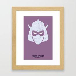 Shredder - Turtle Soup Framed Art Print