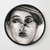 charlie Wall Clocks featuring Charlie by sladja
