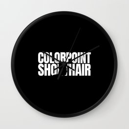 Colorpoint Shorthair Lover Wall Clock