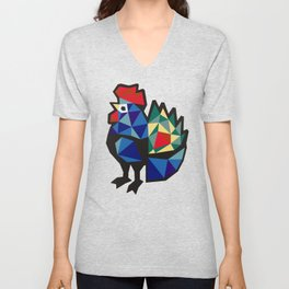 Polish Folk Rooster Unisex V-Neck