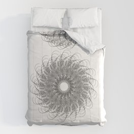 Spiral Growth Patterns of Sunflowers Comforters