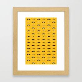 Stache Framed Art Print