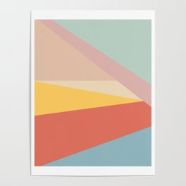 Retro Abstract Geometric Poster