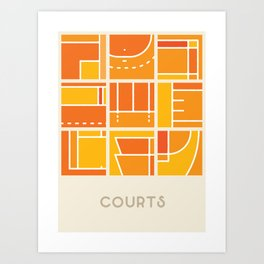 Courts (Sports Surfaces Series, No. 1) Art Print