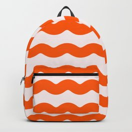 Winter 2019 Color: Unapologetic Orange on Pink Waves Backpack