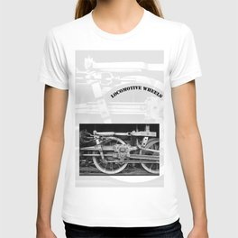 locomotive wheels T-shirt