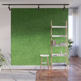 Green Glitter Sparkly Gradient Wall Mural