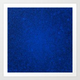 Tanzanite Blue Sparkling Jewels Pattern Art Print