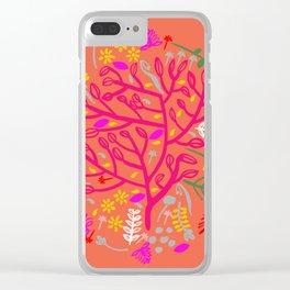 Folk Tree Clear iPhone Case