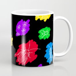Uninvited Guests - White Outline Coffee Mug