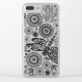 Dragonfly garden Clear iPhone Case
