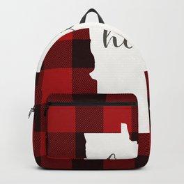 Minnesota is Home - Buffalo Check Plaid Backpack