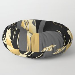 Dark and gold marble Floor Pillow