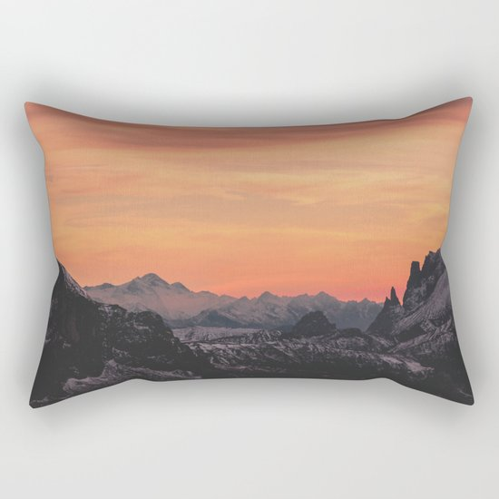 Pastel Sunset #mountains #society6 Rectangular Pillow
