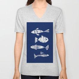 Sea fishes Unisex V-Neck