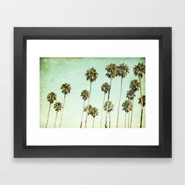Palm Trees (California Dreaming III) Framed Art Print