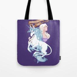 Where do unicorns go? Tote Bag