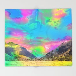 Truly High Mountains Throw Blanket