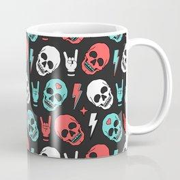 Skull - Black Coffee Mug